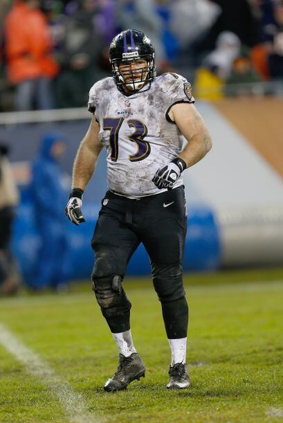 Marshal Yanda, guardia ofensivo de los Baltimore Ravens (AP-NFL).