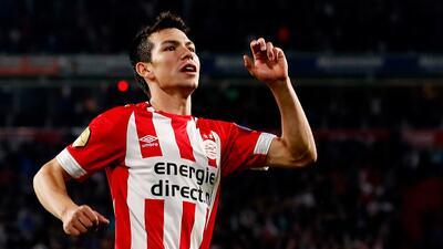 La imponente cuota goleadora de Hirving Lozano