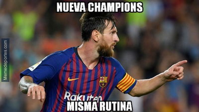 Memes de Barcelona y PSV Eindhoven en el arranque de la Champions League