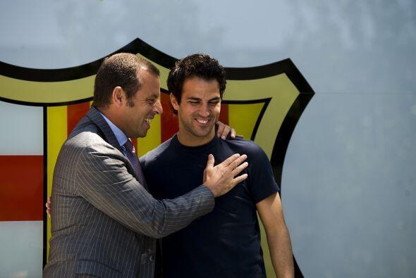 Rosell le reiteró la alegría de todo el club por su llegada.