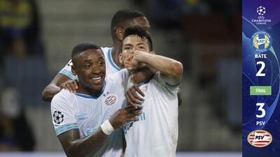 Más diabólico que nunca: con un golazo, el 'Chucky' brilló en el triunfo del PSV sobre el BATE en Bielorrusia