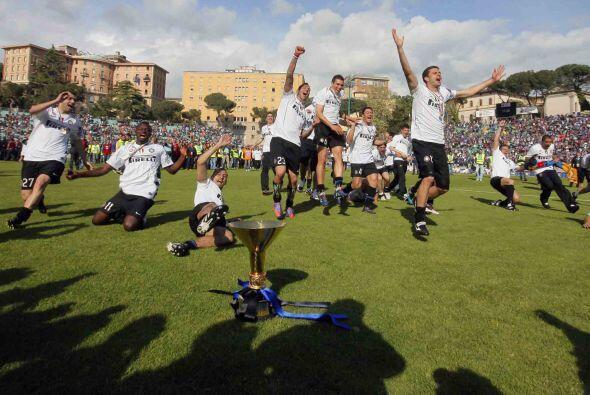 Con esto el Inter logró el doblete, Coppa y Liga italiana, y su próximo...