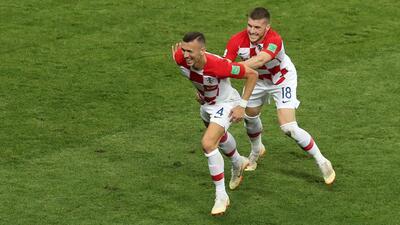 Con este golazo de Perišić Croacia puso el 1-1 en el marcador ante Francia
