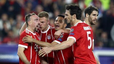 En fotos: Bayern Munich remontó y venció 1-2 al Sevilla en su visita a España en Champions