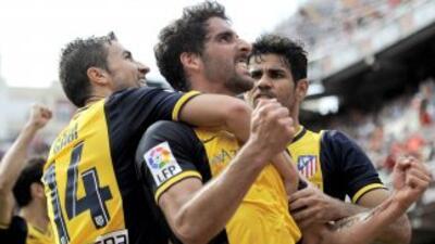 Raúl García, quien vive la mejor temporada de su carrera, marcó el solit...