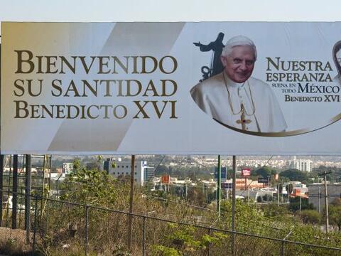 Comenzó la cuenta regresiva para la visita del Papa Benedicto XVI...
