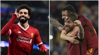 Liverpool recibe a la Roma en duelo de cenicientas en la Champions League
