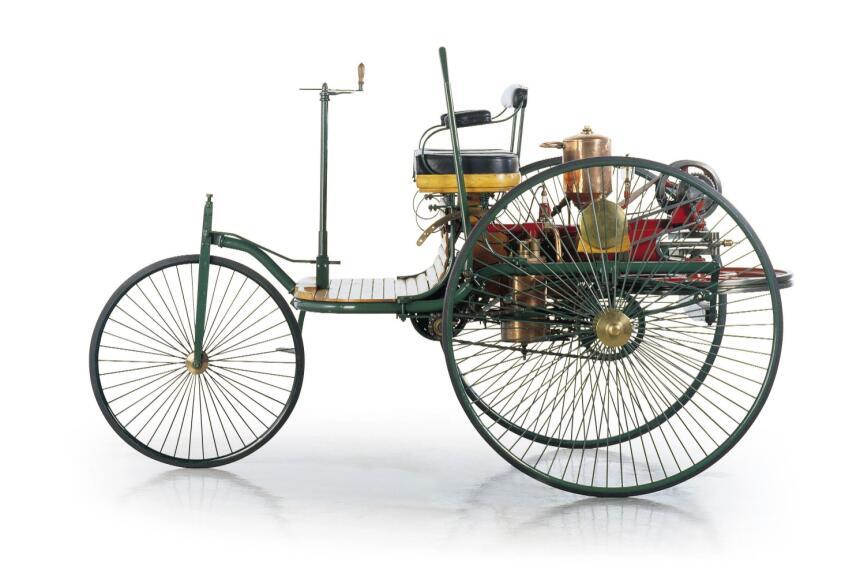 Vista lateral del Benz Patent Motorwagen número 1