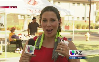 Periodistas en Arizona reportan bajo intenso calor