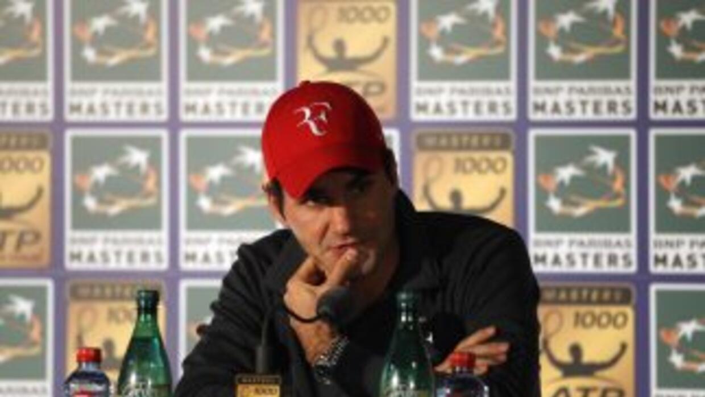 En siete participaciones, Federer nunca ha superado los cuartos de final...
