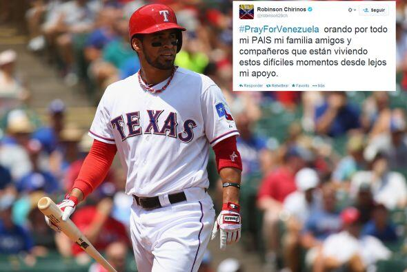 Robinson Chirinos, beisbolista de los Rangers de Texas y de los Navegant...