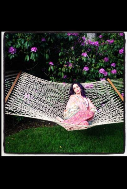 ¿Quieres acompañar a Katy Perry en la hamaca? Fotografía publicada por @...