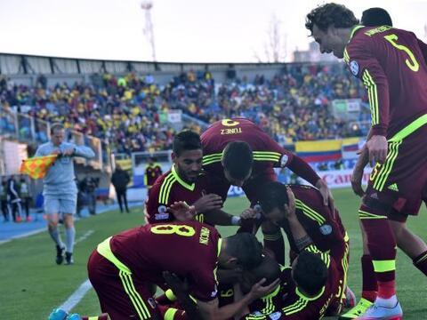 La selección de Venezuela dio la primera sorpresa de la Copa Am&e...
