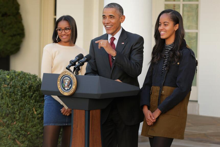 Malia Obama creció dándonos lecciones básicas de moda  GettyImages-49872...