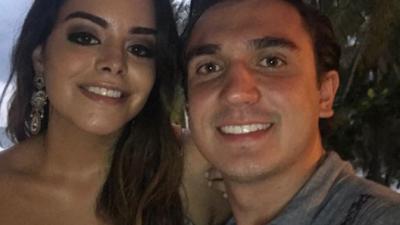 José Miguel Pérez y su novia