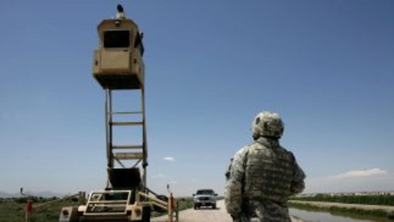 El 'muro virtual' estaba levantado en unas 85 millas de la frontera entr...