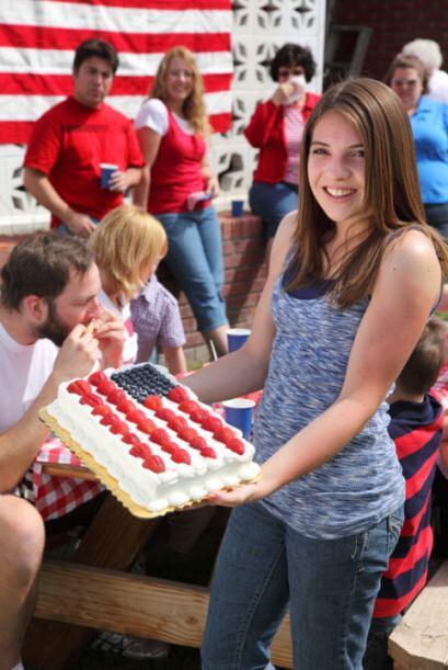 7.Prepara un pastel muy patriótico: aprovechando la ocasión del Día de...