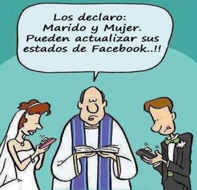 """""""Los declaro marido y mujer. ¡Pueden actualizar sus estados de Facebook!"""""""