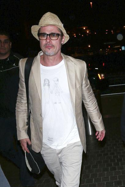 El talentoso actor y ahora productor Brad Pitt, no podría estar más feli...