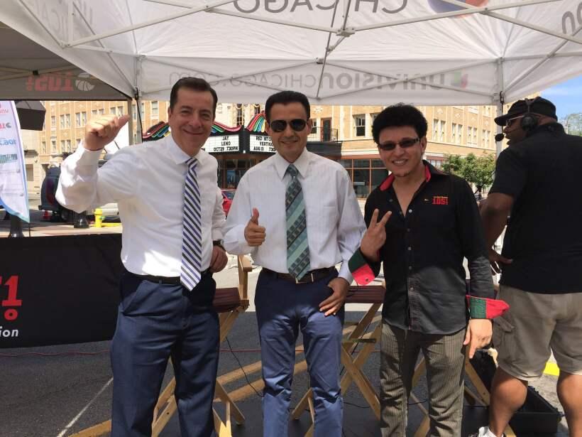 Univision dijo presente en Waukegan. Jorge Barbosa, Enrique Rodrí...