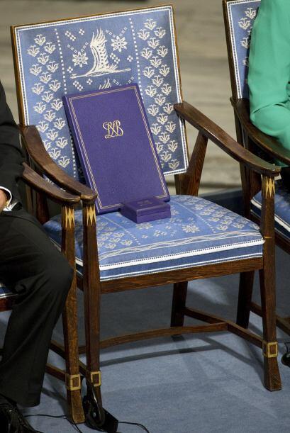 Al inicio de la ceremonia el presidente de la Fundación Nobel, Ma...