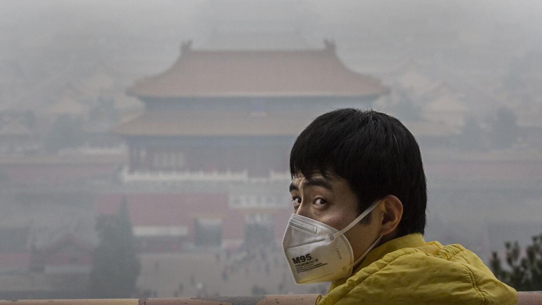 La Ciudad Prohibida rodeada de smog.