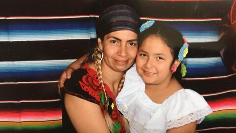 Ariana Santiago, víctima de violecia doméstica quien fue d...