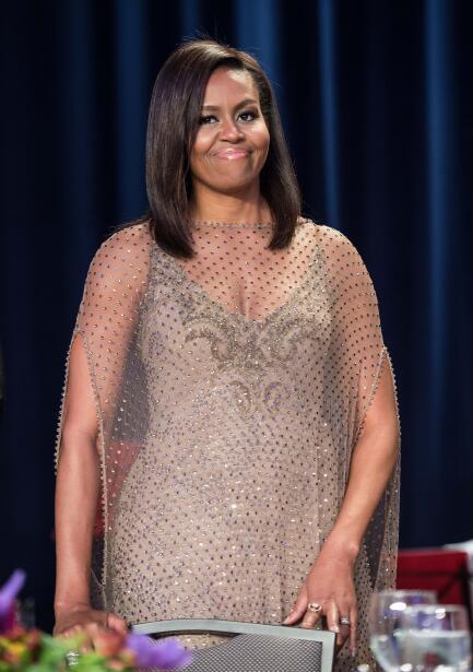 Michelle Obama y Barack Obama en la Cena de la Asociación de Corr...