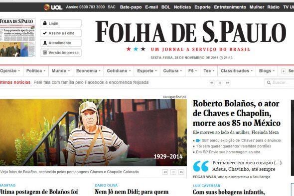 Folha de S. Paulo en Brasil.