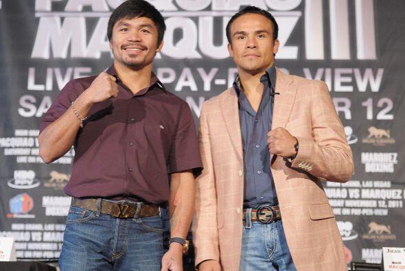 El filipino Pacquiao y el mexicano Márquez se enfrentarán por tercera oc...