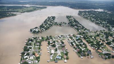 Río Brazos se desbordó en el norte de Texas y alcanza niveles históricos