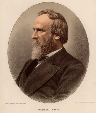 #19- Rutherford B. Hayes. Mandato desde 4 de marzo de 1877, hasta 4 de m...
