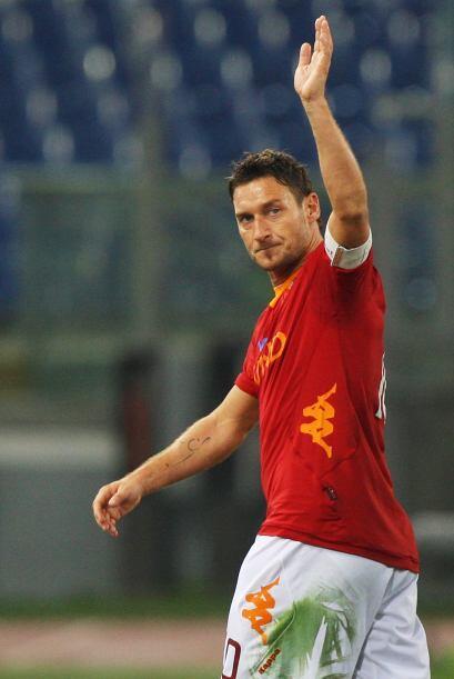 Totti, goleador y figura de la Roma.