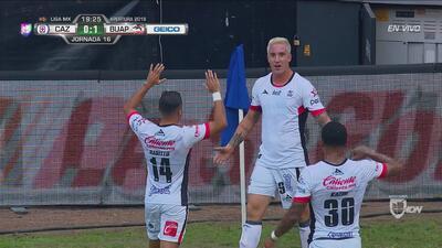 Lobos BUAP se pone en ventaja 1-0 con tanto del goleador Leonardo Ramos