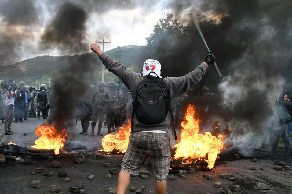 Crisis presidencial en Honduras. Fuerzas de seguridad hondureñas...