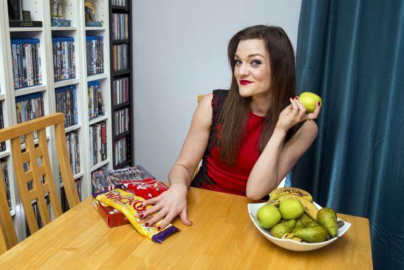 Sus hábitos alimenticios han cambiado totalmente y ella piensa a seguir...