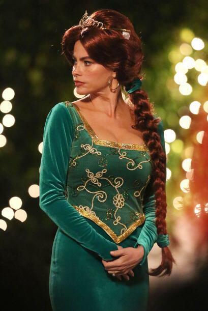 Nuestra Sofía Vergara se convirtió nada menos en Fiona, la novia de Sherk.