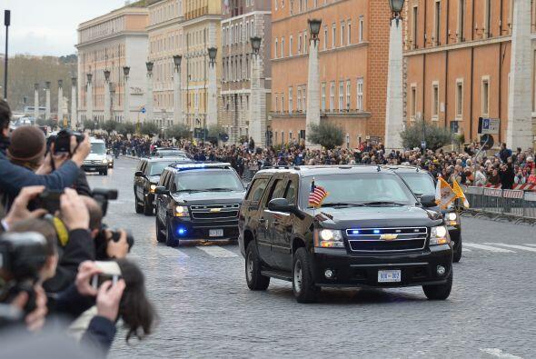 El presidente de Estados Unidos, Barack Obama, llegó hoy al Vaticano par...