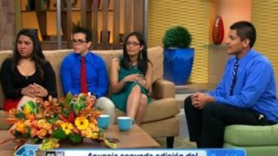 Los ganadores, de izquierda a derecha: Jacqueline Garcia-Martinez, Osval...