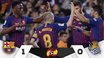 Iniesta le dijo adiós al Barcelona en una noche mágica