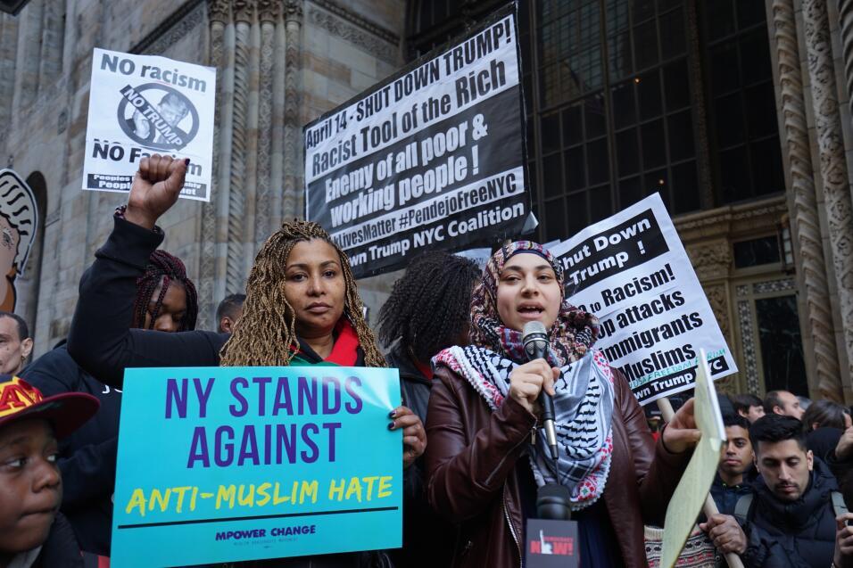 Nueva York no quiere racismo ni odio por motivos religiosos.