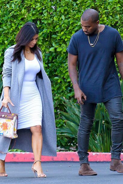 Al parecer a Kanye también le encantó el accesorio de su mujer.