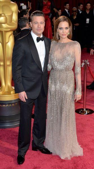"""Bradd Pitt y Angeline Jolie en la celebración de los """"scar en el Hollywo..."""