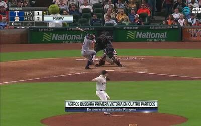 Contacto Deportivo Houston: Astros busca evitar barrida ante Rangers