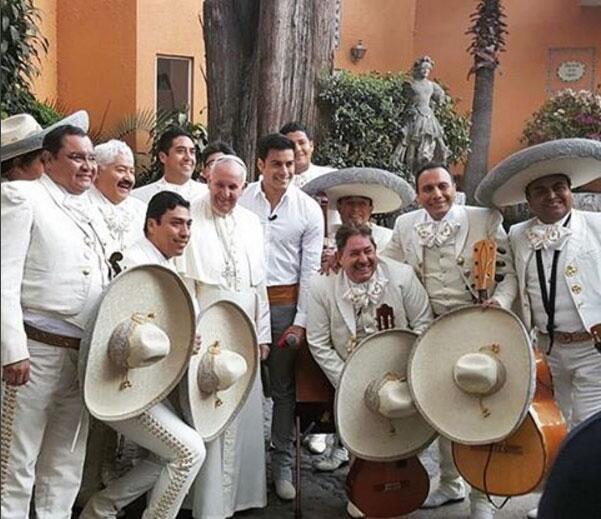 Carlos Rivera y el Papa