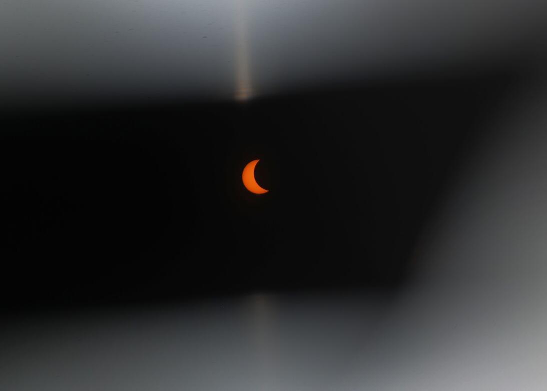 Aunque Miami no estuvo en su totalidad en el camino del eclipse solar, a...
