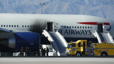 Se incendia avión en Las Vegas