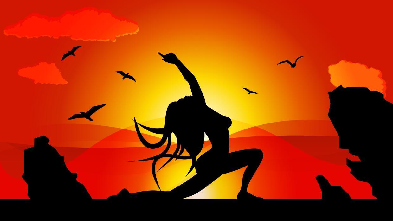 Ilustración Mujer haciendo Yoga