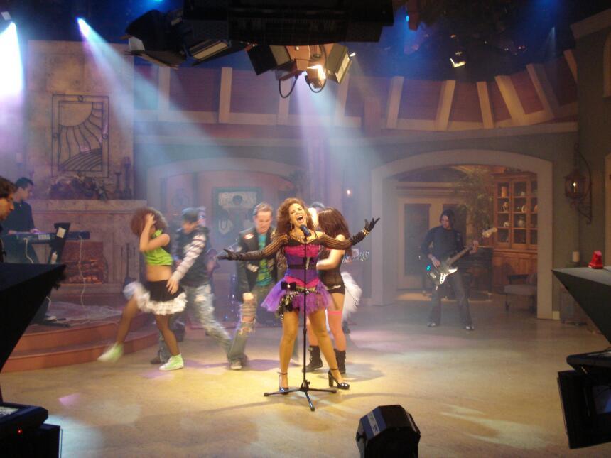 Gloria Trevi en su visita a Despierta América en el 2007