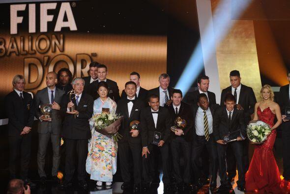 Esto fue todo en la Gala de la FIFA para el Balón de Oro 2011. Ah...